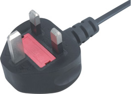 JF-06A UK ASTA BS1363-1 Overmold Fuse Max 13A Plug Mains Lead
