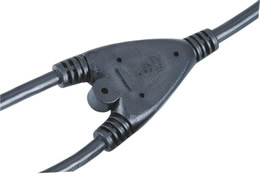 FT-3Y  3 Prong Y  Power Cord Splitter