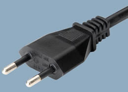 YDL-07 Italy CEI 23-16 2 Pin 10A IMQ Plug Power Cord