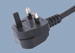 Y006B UK 3A 2 Conductor with Plastic Ground Plug Pin Power Cord