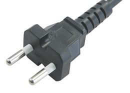 Y002-K Korean KSC 8305 KTL KC 2 Pin 16A Plug Power Cord