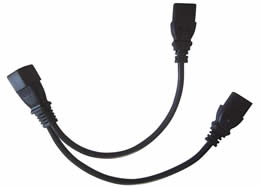 Y Splitter IEC 60320 C14 to 2 x C13 Power Adapter Cable Cord